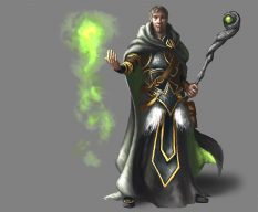 Green Wizard Character Design