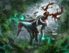Deer Shaman Forest God Creature Illustration