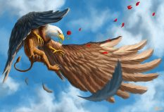Griffin Rose Flying Creature Illustration